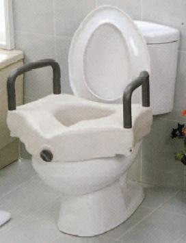 rialzo wc con braccioli fissi